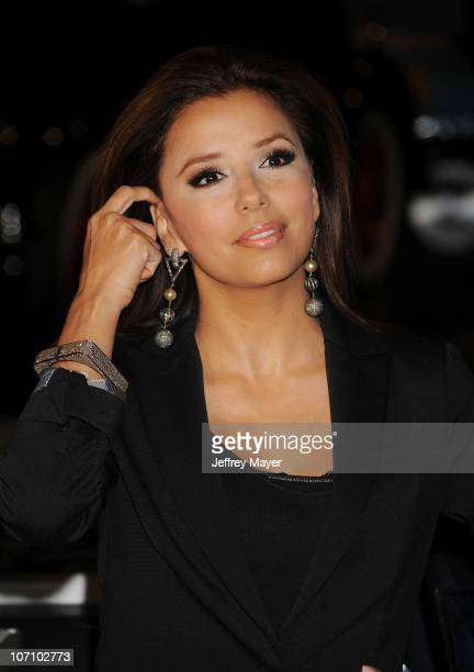 Actress Eva Longoria Parker attends the Rally For Kids With Cancer Scavenger Cup Press Conference With Eva Longoria at Petersen Automotive Museum on...