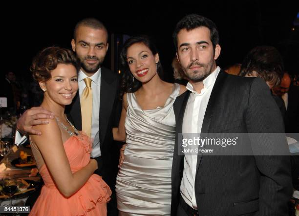 Actress Eva Longoria Parker, NBA Player Tony Parker, Actress Rosario Dawson and guest in the audience at the TNT/TBS broadcast of the 15th Annual...