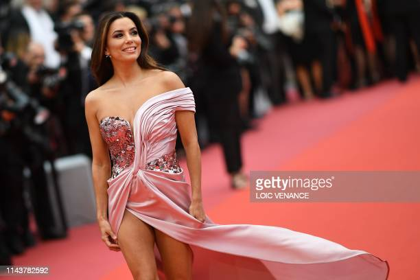 TOPSHOT US actress Eva Longoria poses as she arrives for the screening of the film The Dead Don't Die during the 72nd edition of the Cannes Film...