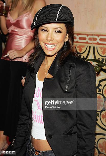 Actress Eva Longoria poses at a party to celebrate GQ Magazine's April Issue at The Spider Club on March 18 2005 in Los Angeles California