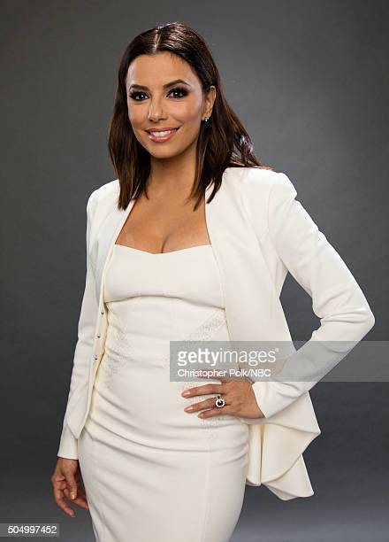 Actress Eva Longoria poses for a portrait during the NBCUniversal Press Day at The Langham Huntington Pasadena on January 13 2016 in Pasadena...