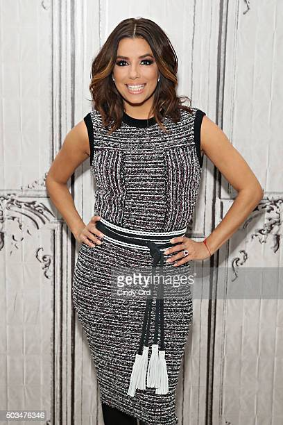 Actress Eva Longoria takes part in AOL BUILD Series Eva Longoria 'Telenovela' at AOL Studios on January 5 2016 in New York City