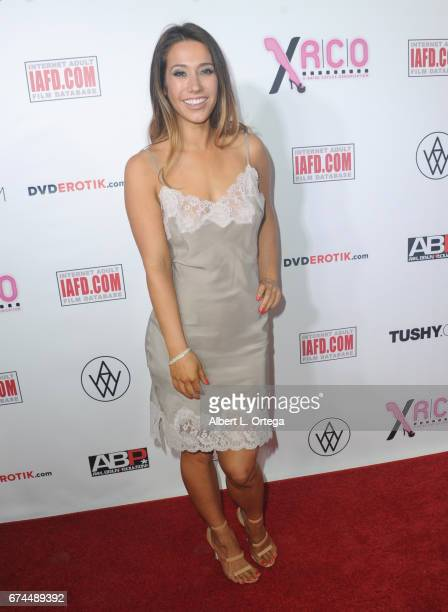 Actress Eva Lovia arrives for the 33rd Annual XRCO Awards Show held at OHM Nightclub on April 27, 2017 in Hollywood, California.