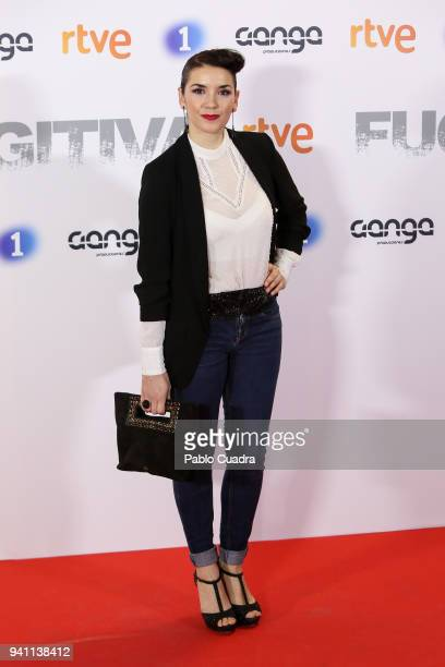 Actress Eva Manjon attends the Fugitiva premiere at Callao Cinema on April 2 2018 in Madrid Spain