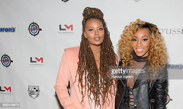 Actress Eva Marcille and singer Dondria Nicole attend the 9th Annual Celebration 4 A Cause Fashion Show at King Plow Arts Center on December 22 2016...