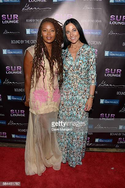 Actress Eva Marcille and Susanna Paliotta attend Teen Project LA's 2016 Teen Dream at Sur Restaurant on July 28 2016 in Los Angeles California