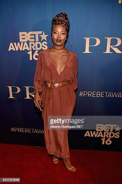 Actress Eva Marcille attends Debra Lee's PRE kicking off the 2016 BET Awards on June 22 2016 in Los Angeles California