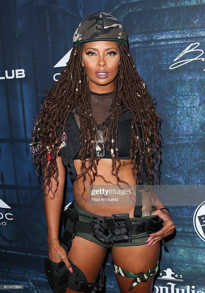 Actress Eva Marcille attends Maxim Magazine's annual Halloween party on October 22, 2016 in Los Angeles, California.