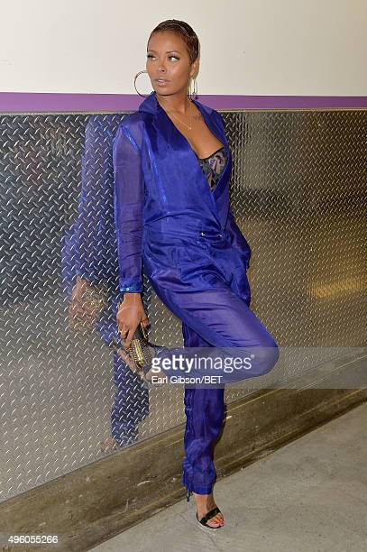 Actress Eva Marcille attends the 2015 Soul Train Music Awards at the Orleans Arena on November 6, 2015 in Las Vegas, Nevada.