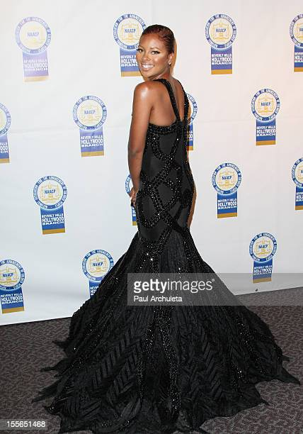 Actress Eva Marcille attends the 22nd annual NAACP Theatre Awards at the Directors Guild Of America on November 5 2012 in Los Angeles California