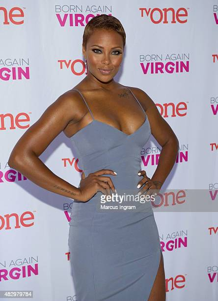 Actress Eva Marcille attends the Born Again Virgin Atlanta premiere at American Spirit Works on August 4 2015 in Atlanta Georgia