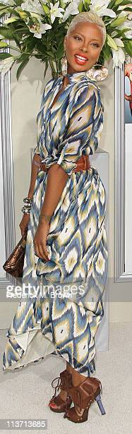Actress Eva Marcille attends the film premiere of TriStar Pictures' 'Jumping The Broom' at the Arclight Cinerama Dome on May 4 2011 in Los Angeles...