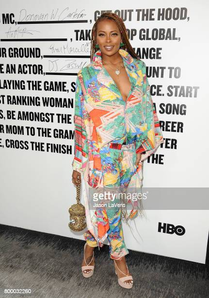 Actress Eva Marcille attends the premiere of The Defiant Ones at Paramount Theatre on June 22 2017 in Hollywood California