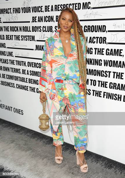 Actress Eva Marcille attends the premiere of 'The Defiant Ones' at Paramount Theatre on June 22 2017 in Hollywood California