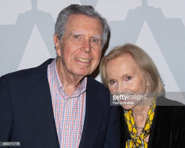 Actress Eva Marie Saint and Director Jeffrey Hayden attend the screening of On The Waterfront to celebrate it's 60th anniversary at Bing Theatre At...