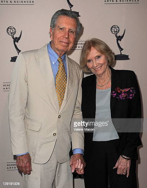 Actress Eva Marie Saint and husband director Jeffrey Hayden attends at The Academy Of Television Arts Sciences Presents An Evening Honoring Carl...