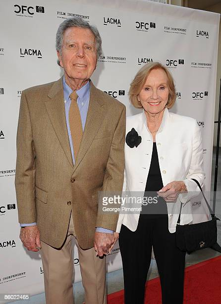 Actress Eva Marie Saint and husband Jeffrey Hayden attend A Tribute to Norman Jewison presented by CFC and Film Independent at LACMA on April 17 2009...