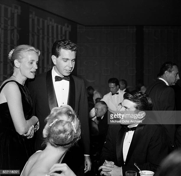 Actress Eva Marie Saint and Jeff Hayden attend the Payton Place premiere in Los AngelesCA