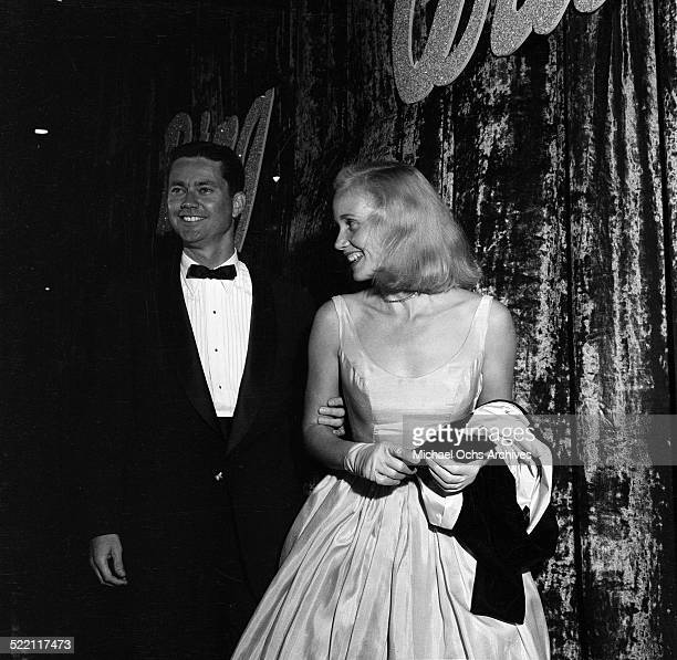 Actress Eva Marie Saint attends a party with Jeff Hayden in Los AngelesCA