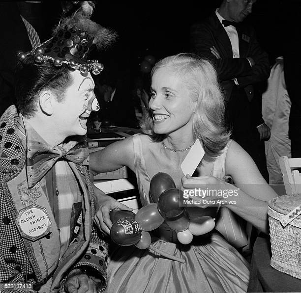 Actress Eva Marie Saint attends a premiere party for Trapeze in Los AngelesCA