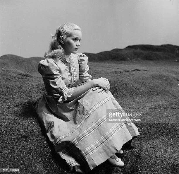 Actress Eva Marie Saint attends the premiere of The Tall Men in Los AngelesCA