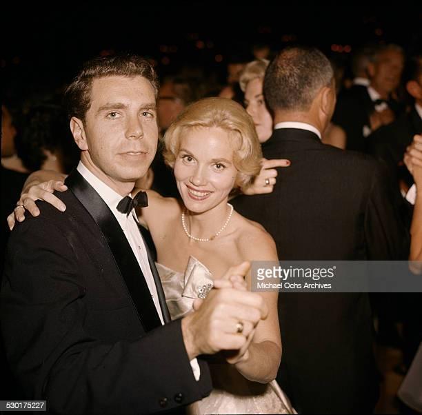 Actress Eva Marie Saint dances with Jeff Hayden during an event in Los AngelesCA