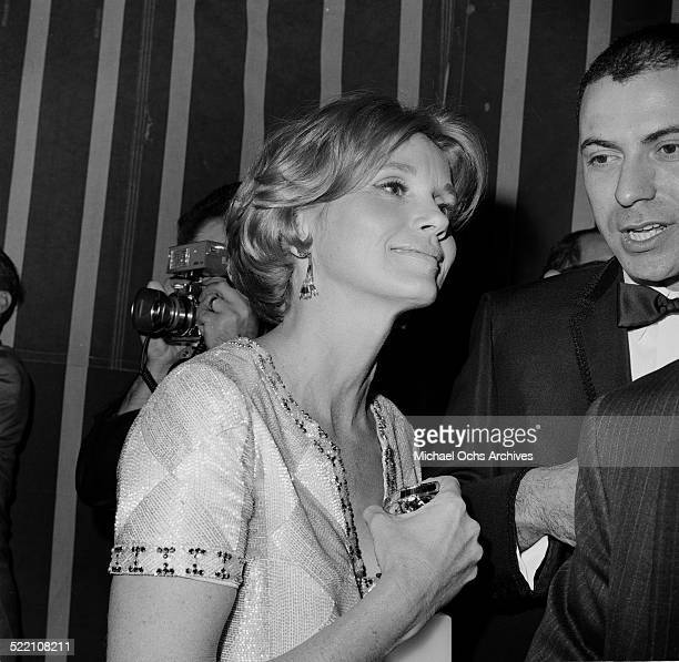 Actress Eva Marie Saint talks to Alan Arkin during an event in Los AngelesCA