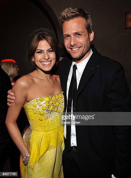 "Actress Eva Mendes and actor Gabriel Macht attends the after party of the Los Angeles premiere of ""The Spirit"" at the Grauman's Chinese Theater on..."
