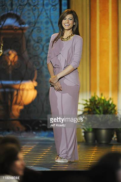 Actress Eva Mendes appears onstage during Spike TV's 5th annual 2011 Guys Choice Awards at Sony Pictures Studios on June 4 2011 in Culver City...