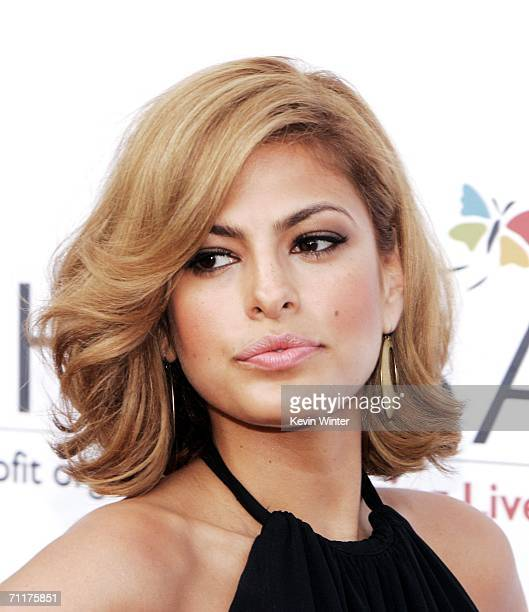 Actress Eva Mendes arrives at Chrysalis' 5th Annual Butterfly Ball at the home of Fred and Carla Sands on June 10 2006 in Los Angeles California