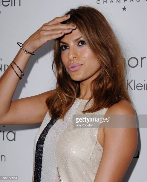 """Actress Eva Mendes arrives at """"Elle Magazine's 15th Annual Women in Hollywood Tribute"""" at the Four Seasons Hotel on October 6, 2008 in Beverly Hills,..."""