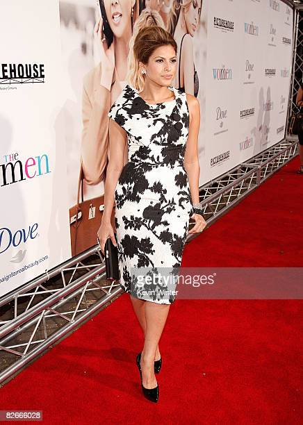 Actress Eva Mendes arrives at Picturehouse's premiere of 'The Women' at Mann Village Theater on September 4 2008 in Westwood California