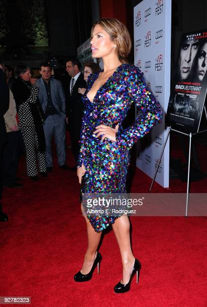 Actress Eva Mendes arrives at the AFI Fest Screening of 'Bad Lieutenant Port of Call New Orleans' at Grauman's Chinese Theatre on November 4 2009 in...