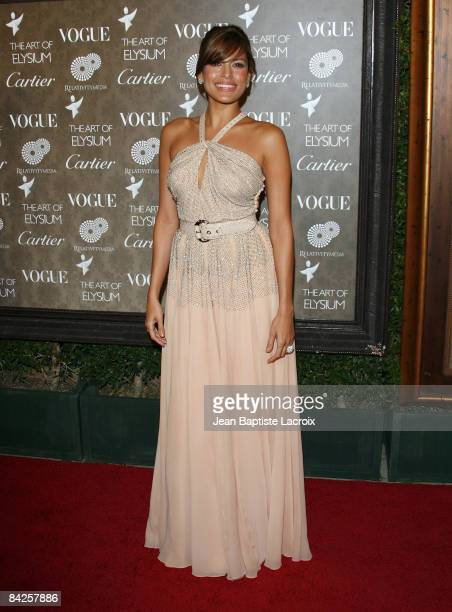Actress Eva Mendes arrives at the Art of Elysium 2nd Annual Heaven Gala held at Vibiana on January 10, 2009 in Los Angeles, California.