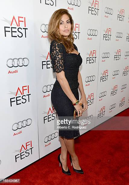 Actress Eva Mendes arrives at the 'Holy Motors' special screening during the 2012 AFI Fest at Grauman's Chinese Theatre on November 3 2012 in...