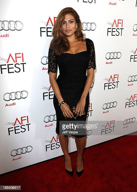 Actress Eva Mendes arrives at the Holy Motors special screening during the 2012 AFI Fest at Grauman's Chinese Theatre on November 3 2012 in Hollywood...