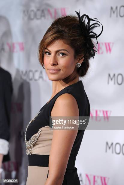 Actress Eva Mendes arrives at the MOCA New 30th Anniversary Gala on November 14 2009 in Los Angeles California