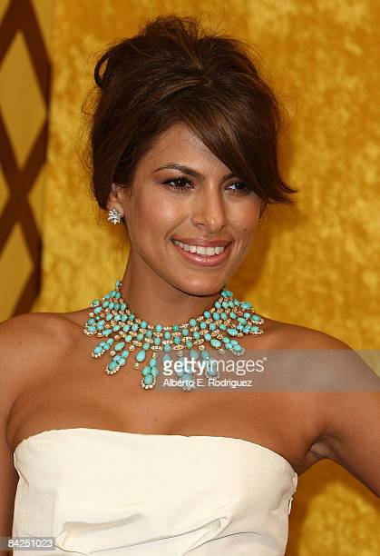 Actress Eva Mendes arrives at the official HBO after party for the 66th Annual Golden Globe Awards held at Circa 55 Restaurant, Poolside at the...