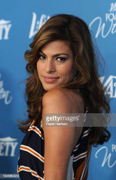 Actress Eva Mendes arrives at the Variety's 2nd Annual Power Of Women Luncheon at the Beverly Hills Hotel on September 30 2010 in Beverly Hills...