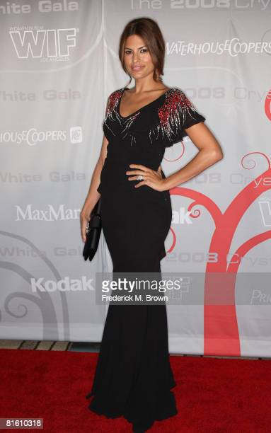 Actress Eva Mendes arrives at the Women In Film's 2008 Crystal Lucy Awards held at the Beverly Hilton on June 17 2008 in Beverly Hills California