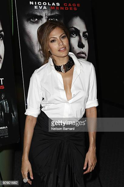 Actress Eva Mendes attends a screening of Bad Lieutenant Port Of Call New Orleans at the SVA Theater on November 8 2009 in New York City