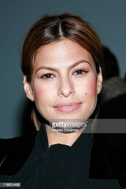 Actress Eva Mendes attends Calvin Klein Womenswear Fall 2009 during MercedesBenz Fashion Week at 205 W 39th Street February 19 2009 in New York City