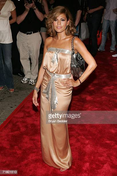 Actress Eva Mendes attends Fox Searchlight Pictures' premiere of 'Trust The Man' at Chelsea West Cinemas August 7 2006 in New York City