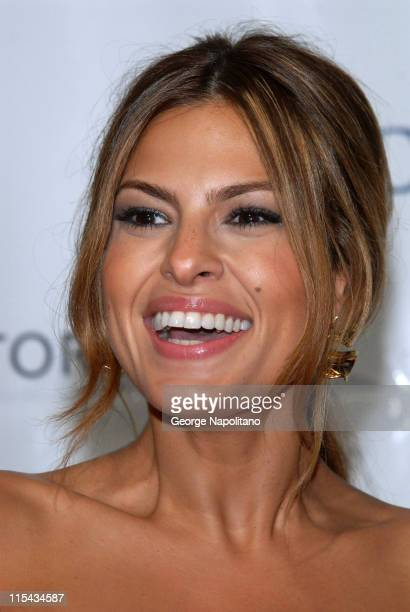 Actress Eva Mendes attends Petra Nemcova's Happy Hearts Fund 'Heart of Gold Ball' at Cipriani Wall Street on October 10 2007 in New York City