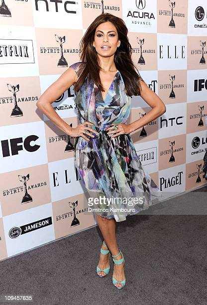 Actress Eva Mendes attends the 2011 Film Independent Spirit Awards hosted by Jameson Irish Whiskey at Santa Monica Beach on February 26 2011 in Santa...