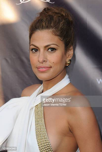 Actress Eva Mendes attends the 9th Annual Butterfly Ball on June 5 2010 in Los Angeles California