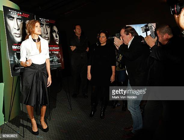 Actress Eva Mendes attends the after party for the premiere of 'Bad Lieutenant' at the SVA Theater on November 8 2009 in New York City