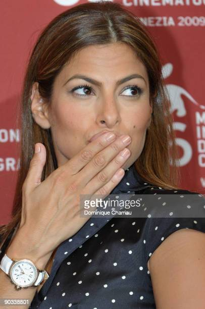 Actress Eva Mendes attends the 'Bad Lieutenant Port Of Call New Orleans ' photocall at the Palazzo del Casino during the 66th Venice Film Festival on...