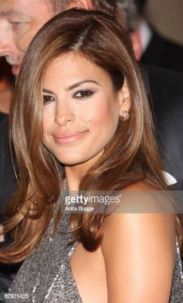 Actress Eva Mendes attends the Dreamball2008 charity gala in the Martin-Gropius Building on September 18, 2008 in Berlin, Germany.