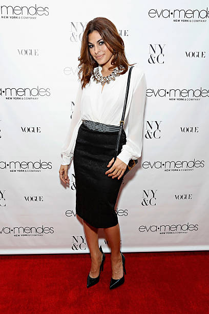 Eva Mendes Exclusively At New York & Company Launch Event - Arrivals ...